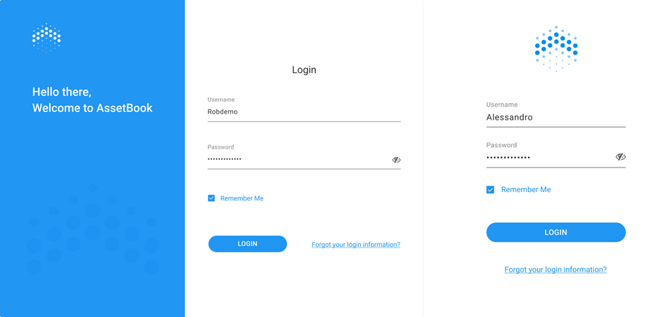 Login page responsive versions